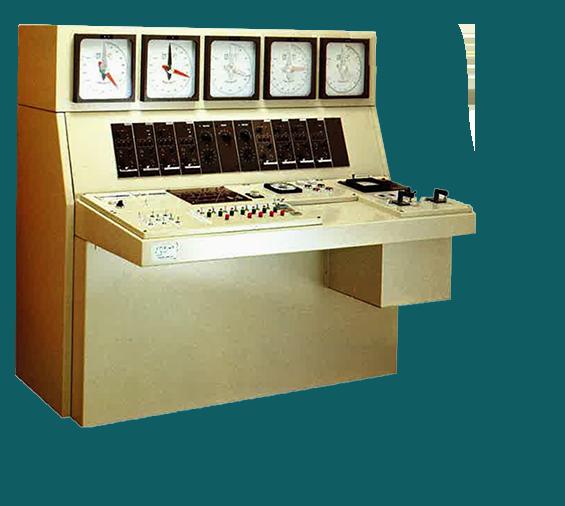 アナログ式の計量操作盤